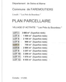 PLAN FAREMOUTIERS parcelles